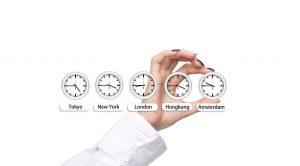 Le temps de différentes places boursières dans le monde